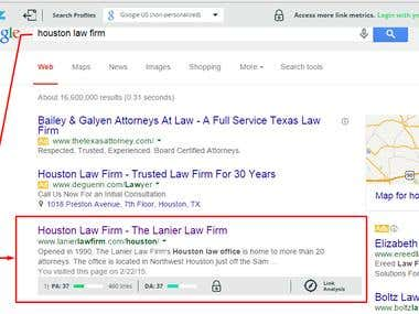Top position for Houston Law firm
