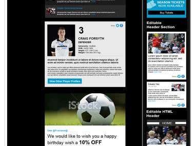 Derby FC email marketing template design