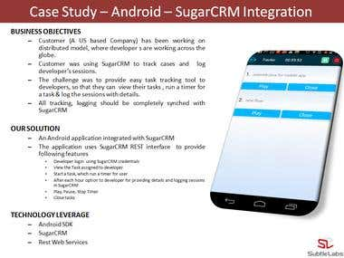 Case Study – Android – SugarCRM Integration