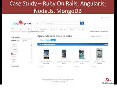 Shopping Cart - Ruby On Rails, AngularJs, NodeJS, MongoDB