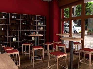 Restaurant Interior / Lochner Wine Bar/ Interior Design