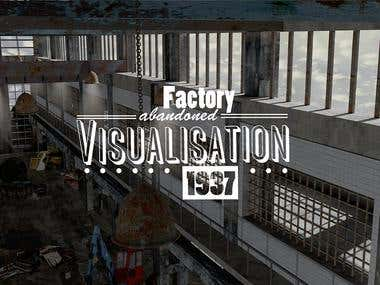 Detailed 3-dimensional Reproduktion of an industrial hall