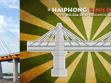 Minimalism Object - Vietnam - Japan Suspension Bridge
