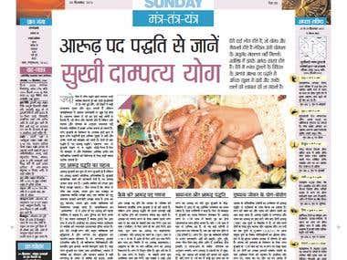 Hindi Article - published in Top Hindi Daily