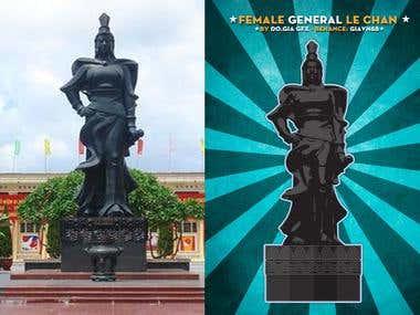 Minimalism Object - LeChan General Statue