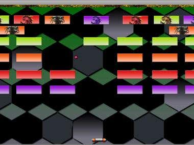 Arkanoid game with lots of features