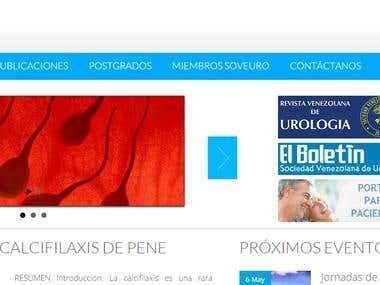 Web soveuro.org.ve / Sociedad Venezolana de Urologia
