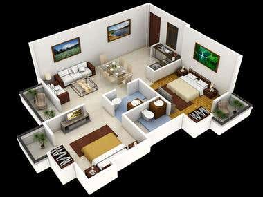3d modelling & rendering