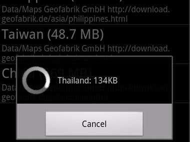 Map navigation( offline)
