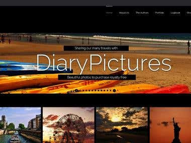 Diary Pictures ecommerce website