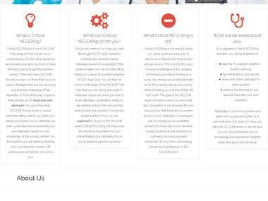 Critical Nclexing - Wordpress Website