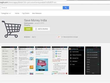 Android Application For Save Money India Online Shopping