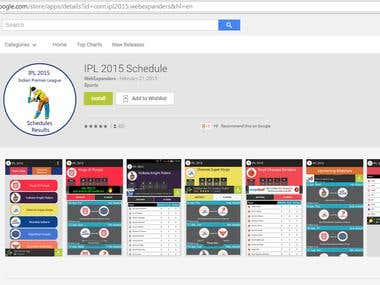 Android Application For IPL 2015 Schedule