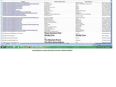 websearching about free events