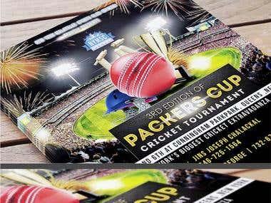 Sports Flyer Design Of Cricket Tournament