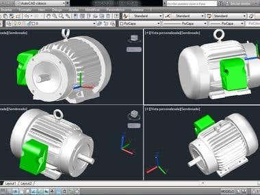Motor Views 3d isometric