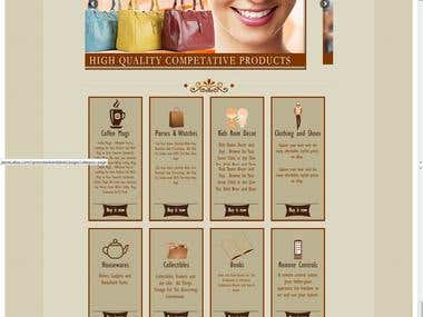 E bay store home page and listing template design.