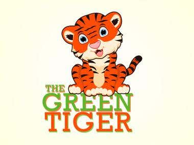 The Green Tiger Logo Design