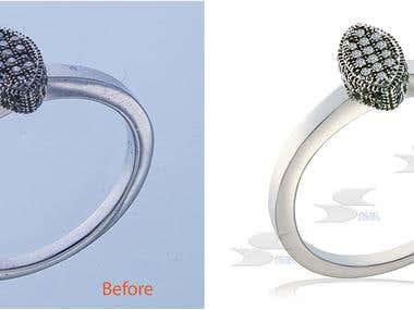 retouch jewelery