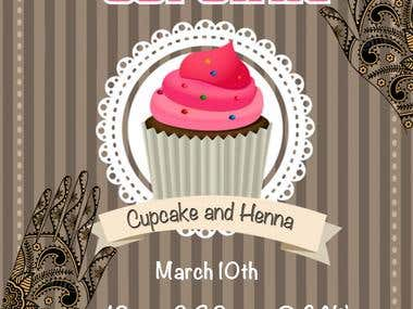 Poster for Baking and Henna event