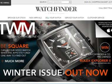 Website Developed for watch Company