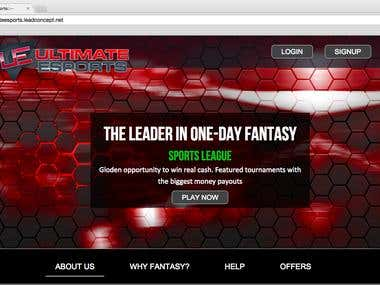 UltimateESports Fantasy Sports Website