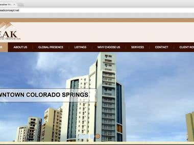 PeakCommercial WordPress CMS Website