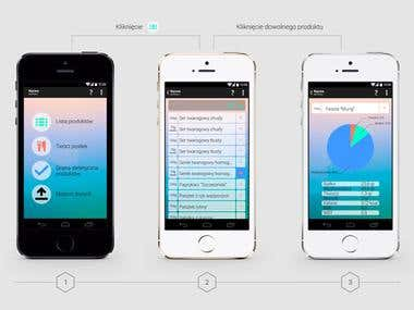 Diabetic AndroidApp UI
