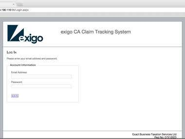 Claim Tracking Web Application