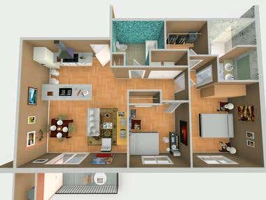Top view house