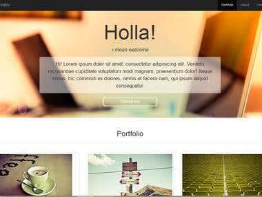 A responsive sample portfolio