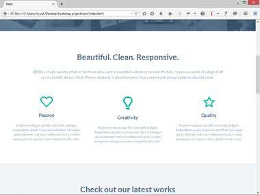 PSD TO Responsive HTML AND CSS3