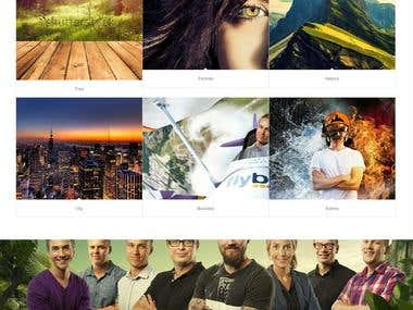 Photobooth Parallax Website design