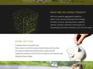 Webpage for Kener