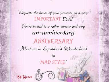 Mad Hatter Invitation