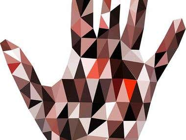 Low poly hand