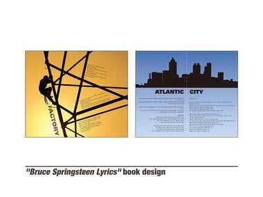 Bruce Springsteen Lyrics book design