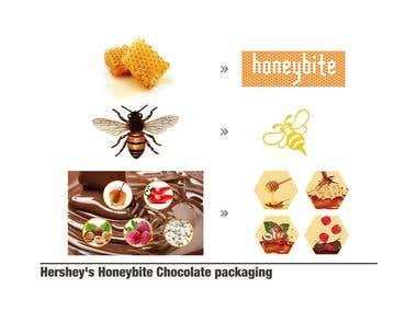 Hershey\'s Honeybite Chocolate packaging