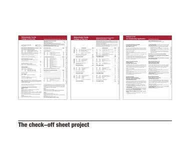 The check-off sheet project