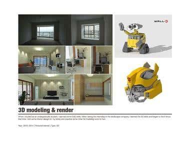 3D modeling & render
