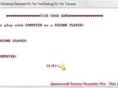 Tic Tac Toe Game in C++