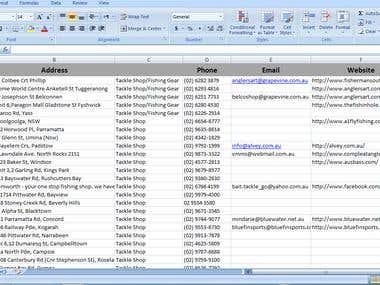 Excel and web search