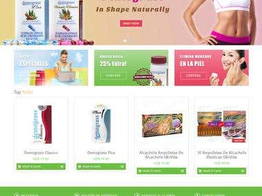 Advanced magento store for health supplements