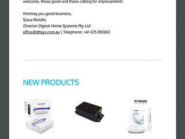Email design for home automation company