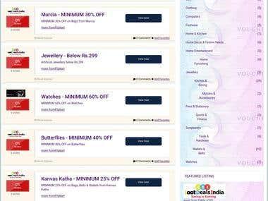 Deal aggregrator website