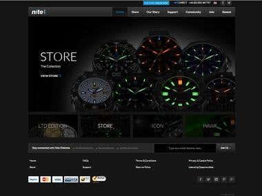 Nite Watch - Ecommerce website