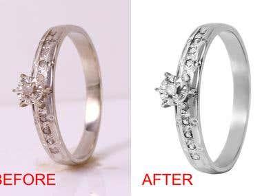 Jewelery retouching