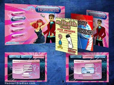 Graphic design for applications, games, eLearning