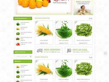 Ecommerce Store For Fruits and Vegetables