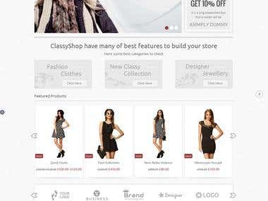 Ecommerce Website For Selling Clothes